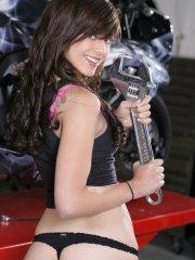 Pictures of Autumn Riley getting hot in the garage
