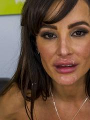 Busty MILF Lisa Ann gets her wet pussy fucked hard
