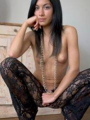 Pictures of a brunette girl naked and ready for your cock