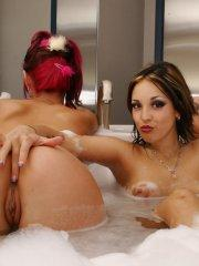 Pictures of Briana Devil all wet with her girlfriends