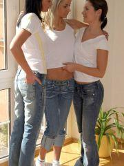 Pictures of 3 hot teen girls molesting each other