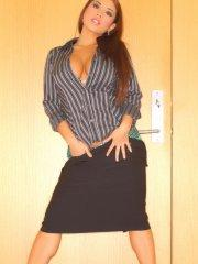 Pictures of Christine Mendoza being your slutty secretary