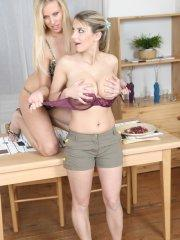 Pictures of teen star Club Katrin getting dirty with her friend
