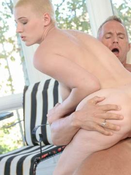 Teen girls Dolly Leigh and Riley Nixon fuck each other's dads