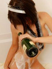 Pictures of teen Diddylicious getting drunk and wet for new year's eve