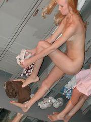Pictures of cheerleaders changing in the locker room