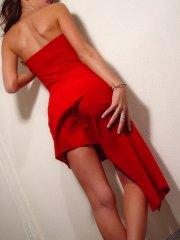 Jayden looks hot for you in a red dress and heels