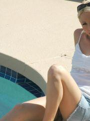 Pictures of teen star Dream Kelly hanging out by the pool