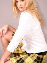 Pictures of Erica Star teasing in a schoolgirl uniform