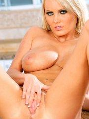 Pictures of Hanna Hilton totally nude on the kitchen counter