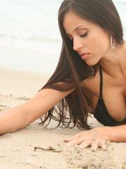 Pictures of teen star Janessa Brazil looking hot on a beach