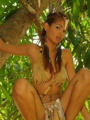 Pictures of teen babe Karla Spice dressed as hot native girl