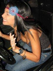 Pictures of Karla Spice enjoying herself at an arcade