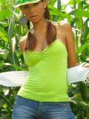 Pictures of Karla Spice teasing on the farm