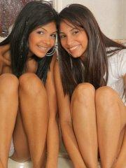 Pictures of teen Karla Spice getting some lesbian action