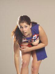 Pictures of a cheerleader touching herself