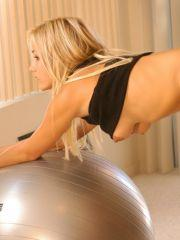 Pics of Lia 19 working out on her giant ball
