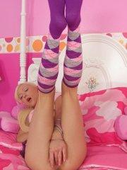 Pictures of Little Lexie playing with her pussy