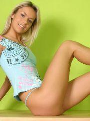 Pics of teen girl Mandy Lightspeed teasing with her legs