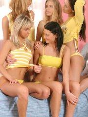 Pictures of teen Mandy Lightspeed hanging out with her friends