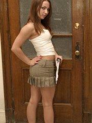 Pictures of teen star Mandy's Diary having a little fun before class