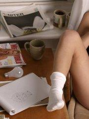 Pictures of teen slut Mandy's Diary spreading her legs