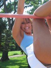Pictures of teen porn girl Melissa Midwest hanging out at the park