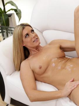 Blonde milf India Summer teaches her step-son how to fuck