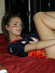 Pictures of Natalie Sins showing love for her team