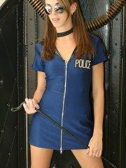 Pictures of Natalie Sins being the bad cop
