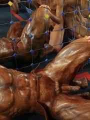 Pictures of Natasha Shy having teen sex with a statue