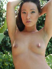 Pictures of Naughty Miko naked outside