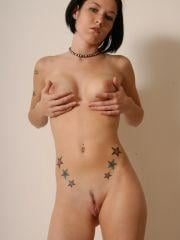 Naughty Nati slowly gets naked