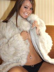 Pictures of teen Naughty Paige trying to stay warm until you get there