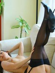 Pictures of Only Carla slipping out of her lingerie