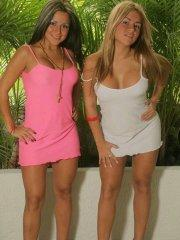 Pictures of teen Spice Twins showing off their hot bodies