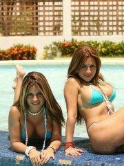 Pictures of teen chick Spice Twins teasing in bikinis