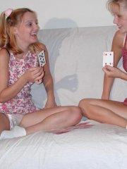 Pictures of Taylor Little getting naughty with her teen friend
