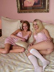 Pictures of teen Teen Deja getting it on with a bi-sexual friend